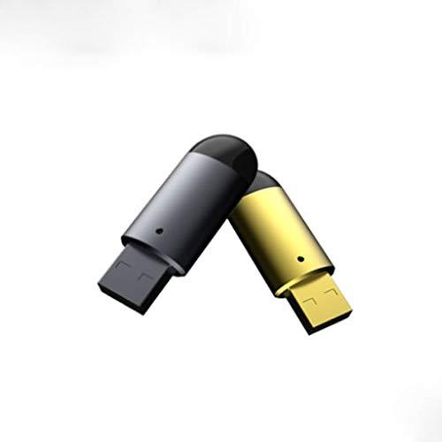 Auto-Bluetooth-Empfänger, Auto-MP3-Smart-AI Bluetooth Musik-U Scheiben-Sprach Voice Control Navigation Multifunktions-Empfänger Universal-Assistent FM (Color : Gold+Gray) Tune Free Audio Fm-transmitter