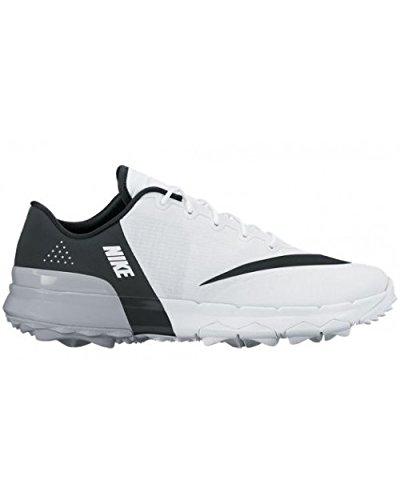 Nike Fi Flex, Chaussures de Golf Femme, Blanc (White/Black/Anthracite/Wolf Grey), 38 EU