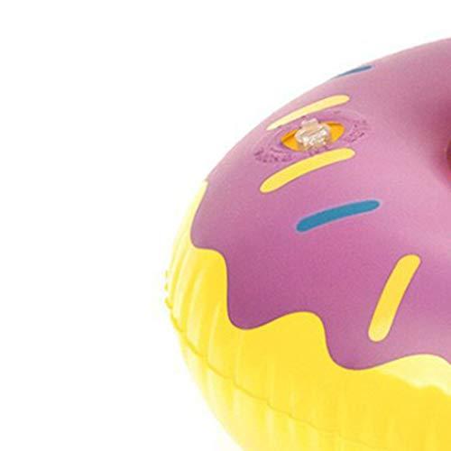 Busirde Aufblasbare Donut Getränkedose Getränkehalter Whirlpool Swimming-Pool-Party Bath Sodawasserflasche Coaster (Getränkedose Hat)
