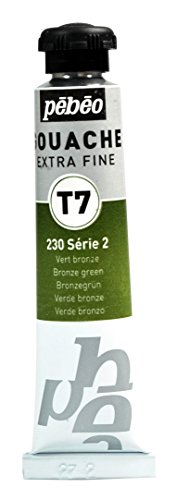 Pébéo Peinture Gouache 1 Tube de 20 ml Vert Bronze