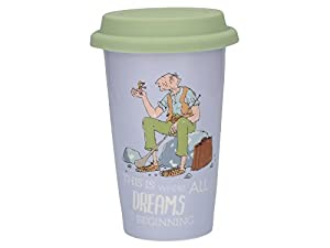 Creative Tops Roald Dahl Fine China Insulated Travel Mug with Silicone Lid