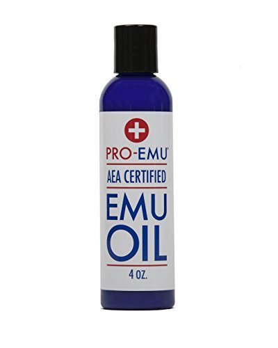 PRO Emu Oil (120ml) Pure All Natural Emu Oil - AEE Certified - Made in USA - Best All Natural Oil For Face, Skin, Hair and Nails. Excellent For Dry Skin, Burns, Sunburns, Scars, muscles and Joints, 4
