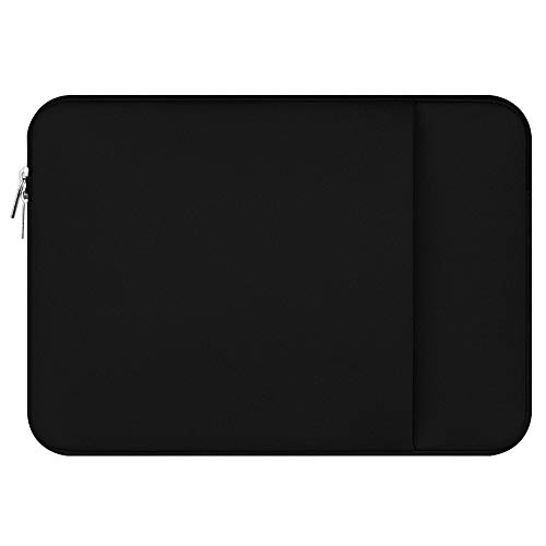 LAAT Tragbar Notebook Hülle Tragbare Laptop-Hülle Tablette Laptoptasche Tragbare Tragetasche Wasserdichtem Laptop Sleeve Case 11/12/13/14/15/15.6 Zoll (Schwarz, 14 Zoll)