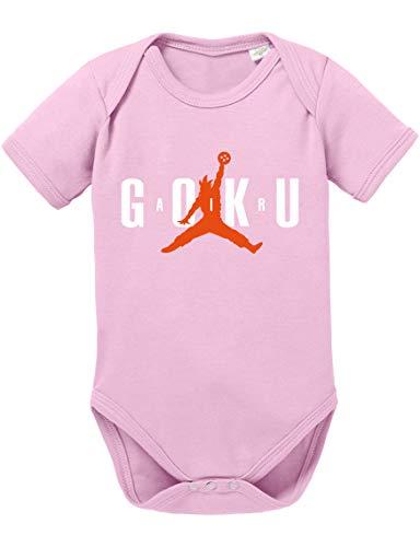Air Goku Dragon Son Baby Ball Strampler Bio Baumwolle Body Jungen & Mädchen 0-12 Monate, Größe:68/4-6 Monate, Farbe:Rosa