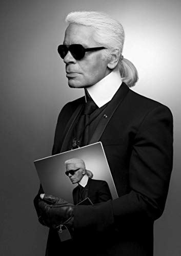PostersNPrints Karl Lagerfeld Iconic Designer 12 260 GSM Photo Poster A3