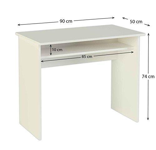 MEKA-BLOCK K-9465B - Mesa de escritorio, 90 cm de ancho, color blanco