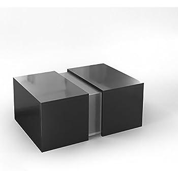 VICCO Couchtisch LED Schwarz Hochglanz - Loungetisch