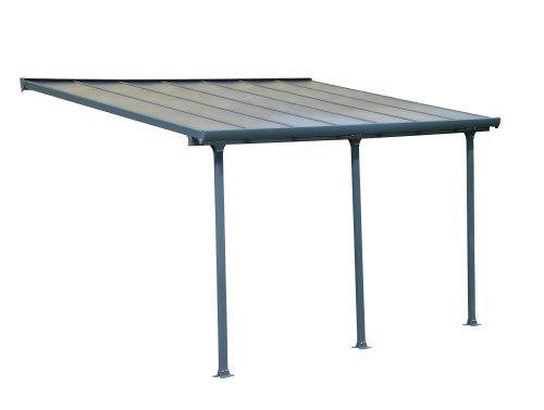 Palram Feria Terrassenüberdachung, grau, 425 x 295 x 305 cm