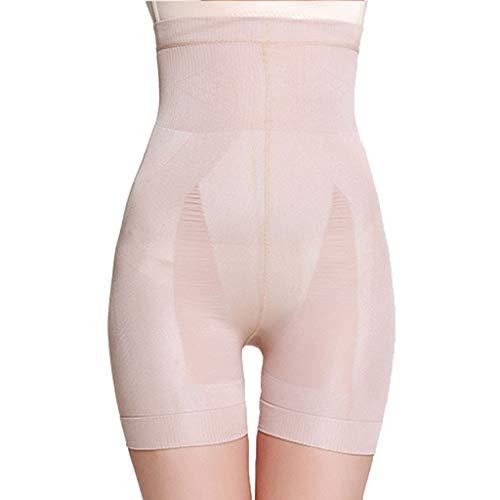 Shapewear Frauen Shapewear Shorts High Waist Panty Mitte Oberschenkel Body Shaper Bodysuit Hohe Taille und Bauch die Unterwäsche Formen (Khaki,L) -