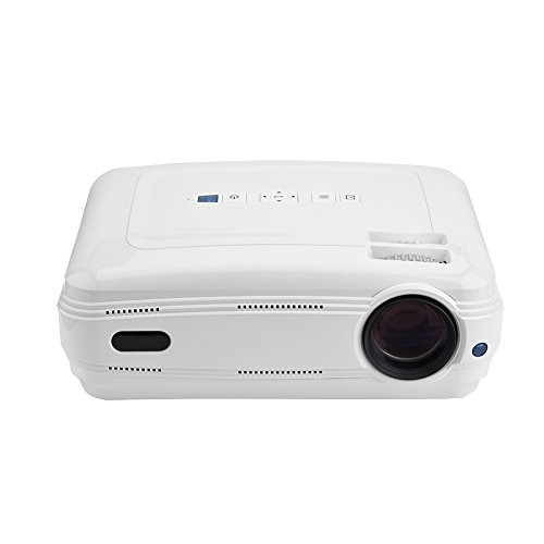 Zerone 1080P HD LED Projector for Home and Office Support TV AV VGA USB HDMI Y Pb Pr White