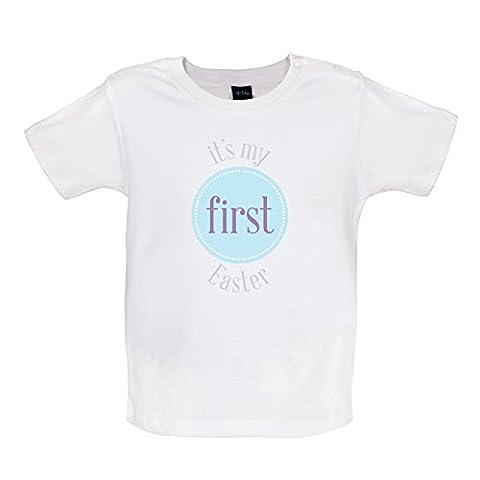 My First Easter - Boy - T-shirt bébé - Blanc - 6 à 12 mois