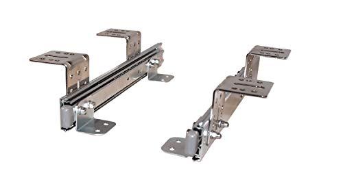 Teleskopschienen für Tastaturauszug 400 mm Nutzhöhe XL 77 mm Untertischmontage