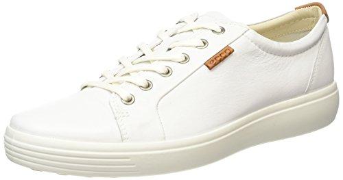 Ecco ECCO SOFT 7 MEN'S, Herren Sneakers, Weiß (WHITE01007), 40 EU (7 Herren UK)