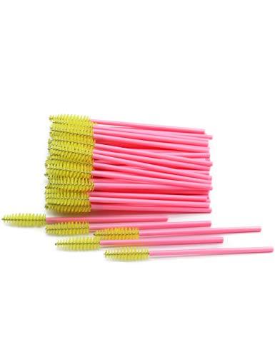 Professionelle Einweg-kit (WZNB Make Up Pinsel 50 Teile/Paket Einweg Micro Wimpernbürsten Mascara Zauberstäbe Wimpernverlängerung Bunte Professionelle Make-Up Pinsel Set Kit Werkzeug)