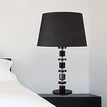 modern contemporary black cystal steps tischleuchte
