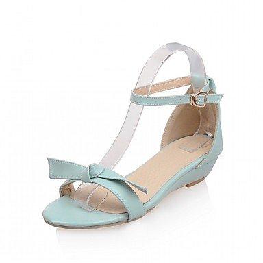 LvYuan Da donna Sandali Finta pelle PU (Poliuretano) Estate Autunno Footing Fibbia Zeppa Beige Blu Rosa 2,5 - 4,5 cm Blue