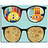 Mousepads Retro Sonnenbrille mit Roboter Reflection in It Bild 19456300 von MSD Matte Individuelle Desktop Laptop Gaming Mauspad