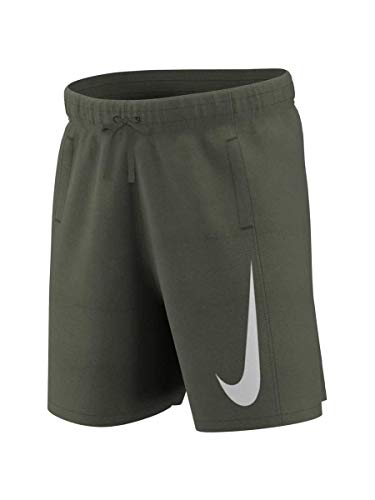 Nike Jungen B NSW Swoosh Ft Short kurz, Weiß (Cargo Khaki/White), L -