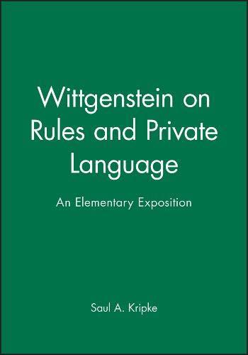 Wittgenstein Rules and Private por Kripke