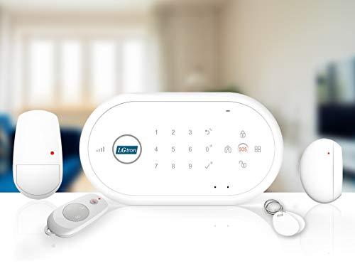 LGtron GSM Smart Funk Alarmanlage LGD8001 868 MHz Rollingcode bei Alarm SMS Anruf App steuerbar RFID-Chip scharf unscharf hineinhören sprechen gemeinsame Zubehör mit LGD8003P Support