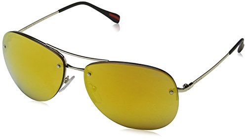 Prada Sport Unisex-Erwachsene 0PS50RS ZVN5N0 62 Sonnenbrille, Gold (Orange),