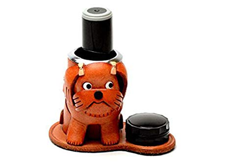 Shih Tzu Hundehalsband Echt Leder Stempel/Pen/Bleistift Ständer/Topmodisch) * Vanca * handgefertigt in Japan -