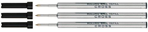 Preisvergleich Produktbild Cross Gel Tinte Rolling Ball Refill für Selectip Pen–Schwarz (3Stück)