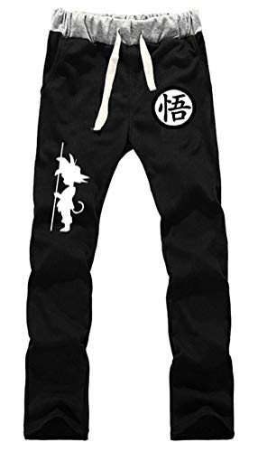 Cosstars Anime Dragon Ball Z Goku Jogger Pantalones Deportivos Cosplay Disfraz Largos Sweat Pants Noos Trousers con Bolsillos Negro 2 S