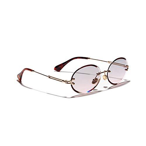 CCGSDJ Oval Frauen Sonnenbrille Männer Gradient Transparente Sonnenbrille Retro Hochwertige Brillen Mode Trendy