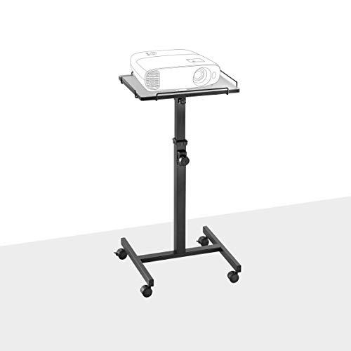 celexon Projektionstisch PT2000B -Projektor-Wagen höhenverstellbar: 80-125 cm - schwarz - Neigbare Stellfläche