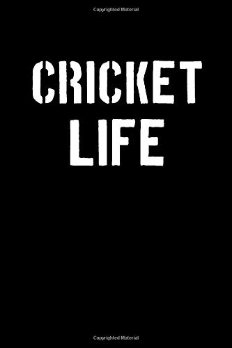 Cricket Life: Blank Lined Journal College Rule Stencil Black por Sportslo Notebooks