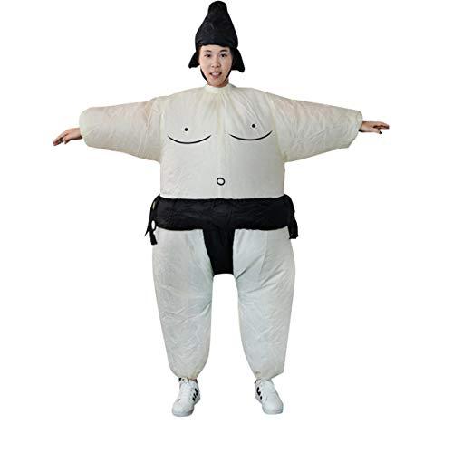 Heaviesk Fan aufblasbare Sumo Kleid Neuheit Fat Man und Frau Suite Fat Masked Suit Fancy Blow Up Dress Wrestler Kostüm (Blow Fat Suit Up)