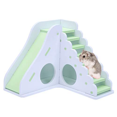 Koojawind Hamster-Vogel-Leiter-HöLzernes Spielzeug, Kleines Tier-TäTigkeits-Spielzeug-Haus Mit Rampen FüR Haustier-Zwerg-Hamster-Rennmaus-MäUsekletternleiter-Dia-Spielwaren