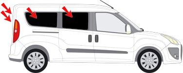 AUTO PROTECCION SOLAR FIAT DOBLO MAXIMO PUERTAS CORREDERAS AB BJ 10 ART  26064 - 6