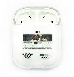 Apple AIRPODS 1 & 2 kompatibel CASE Off ANHÄNGER White Cover SCHUTZHÜLLE AIRPOD Streetwear