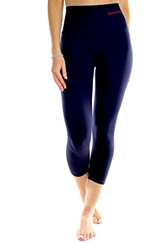 3/4 Capri Tight ((X-Large, Blue) - Women's Capri Pants 3/4 Leggings Tights for Yoga Training Gym by Sundried)