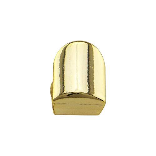 e Einzelzahnkappe Vergoldet Hip Hop Stil Zahn Grill Kappe (Farbe: Gold) ()