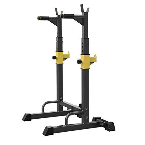 Unbekannt Dip-Stationen Squat Rack Klimmzugausrüstung Multifunktionale Fitnessgeräte Hantelbank Hantelablage Einfache Parallelbarren Für Den Innenbereich (Color : Black, Size : 58x88x140cm) (Hantelbank Squat Rack)