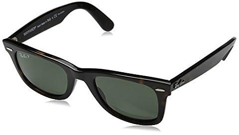 Ray-Ban RB2140 Original Wayfarer Sunglasses 50 mm,Tortoise frame/Crystal Green Polarized lens