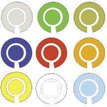 Taylor Bowls Vinyl Labels Lot de 4 marqueurs
