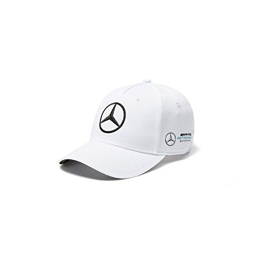 Mercedes AMG F1 Team Driver Puma Bottas Baseball Cap Weiß Offiziell 2018
