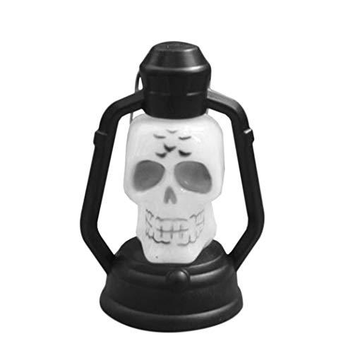 Susens Kürbis Schädel Form LED Hängende Laterne Lampe Weihnachten Halloween Dekor (Geist)