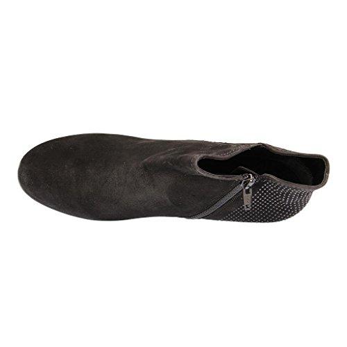 GABOR - 75.641 - Damen Kurzschaft Stiefel - Schwarz Schuhe in Übergrößen Schwarz