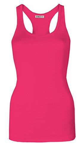 Oops Outlet Damen Weste Vest Muscle/Tops Racer Tops von Brody & Co ® Yoga, Fitness, Gymnastik, hochwertiger Baumwoll-Stretch Kirschrot