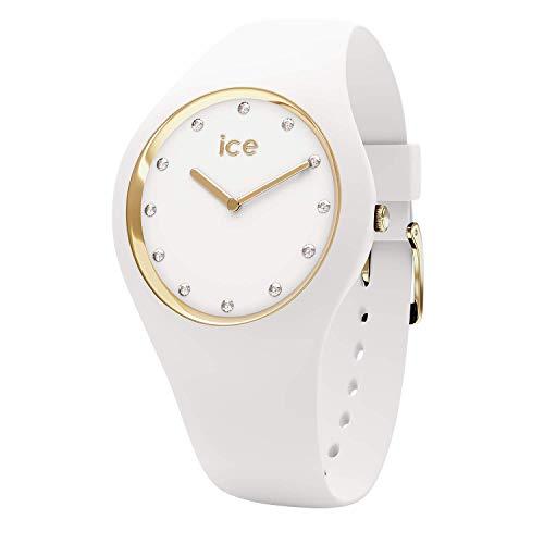 Ice-Watch - ICE cosmos White Gold - Women's wristwatch with silicon strap - 016296 (Medium)