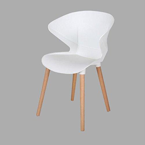 Nimm Einen Stuhl Kunststoff Massivholz Esszimmer Stuhl Esszimmerstuhl Kaffee Rückenlehne lässig Essecke/Computer Mode Einfachen Stuhl Barhocker (Farbe : Schwarz)