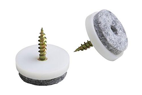 Meister Filz-Gleiter mit Schraube, Ø 20 mm, weiß, 20 Stück, 644226