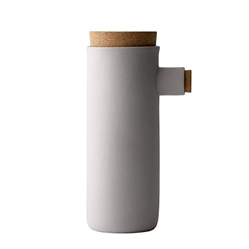 Menu 4061110 Vorratsdose L, Keramik, aschgrau, 12 x 9 x 23 cm
