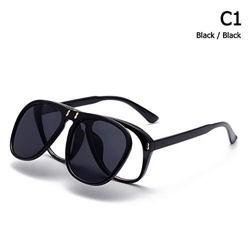 ZHOUYF Sonnenbrille Fahrerbrille Mode Mcqregor Luftfahrt Stil Flip Up Sonnenbrille Unisex Vintage Brand Design Sonnenbrille Oculos De Sol, A