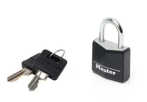 master-lock-9130eurdblk-lucchetto-arco-acciaio-18-mm-alluminio-nero-30-mm